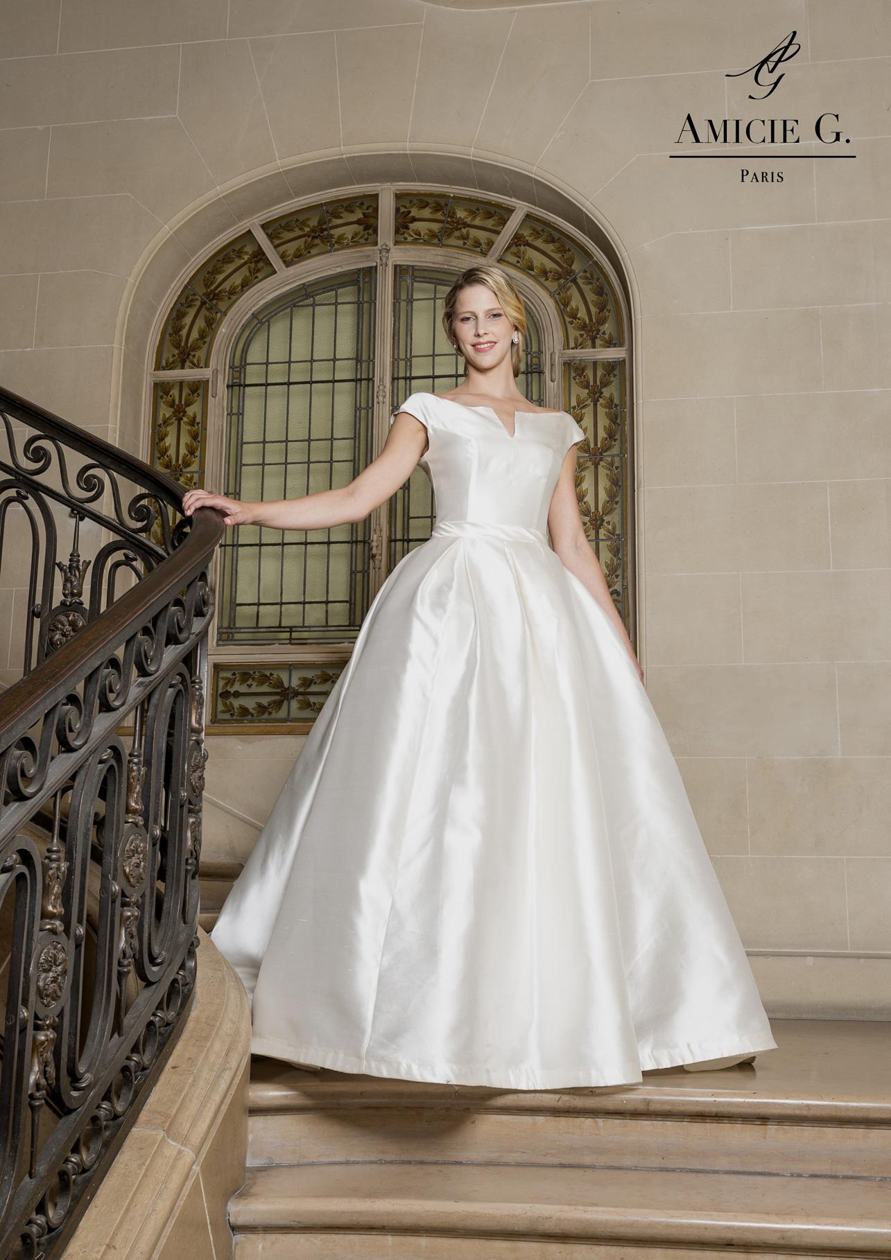 Robe de mariee princesse en soie
